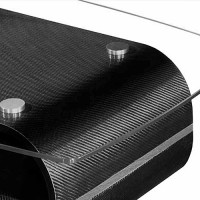 Components and accessories in carbon fiber material for furnishings